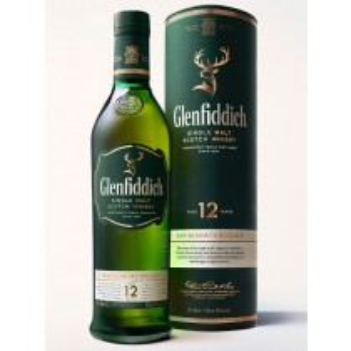 Glenfiddich 12 år Single Malt Whisky 40% 70cl