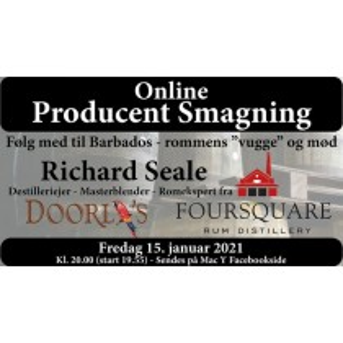 Online romsmagning med Richard Seale fra Foursquare Distillery den 15. januar kl. 20.00