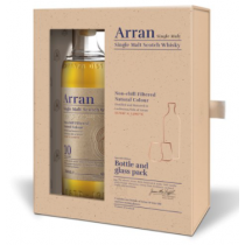 The Arran 10 år Single Island Malt Whisky gaveæske med glas